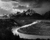 mistrzowie foto. :: Anselm Adams - The Tetons and the Snake River, 1942